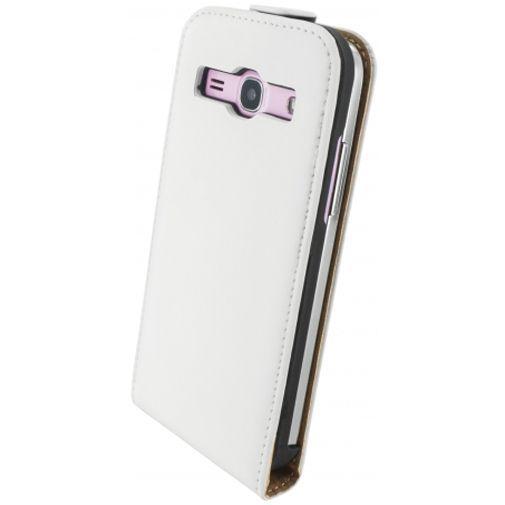 Productafbeelding van de Mobiparts Premium Flip Case White Samsung Galaxy Core Plus