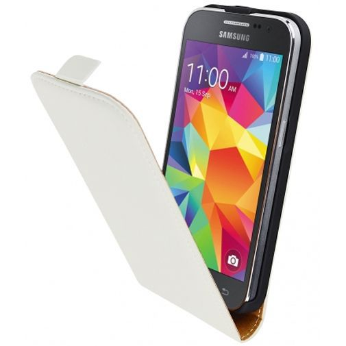 Productafbeelding van de Mobiparts Premium Flip Case White Samsung Galaxy Core Prime (VE)
