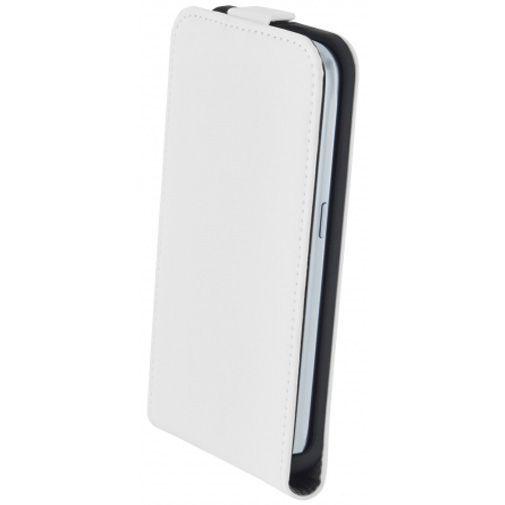 Productafbeelding van de Mobiparts Premium Flip Case White Samsung Galaxy J1 (2016)