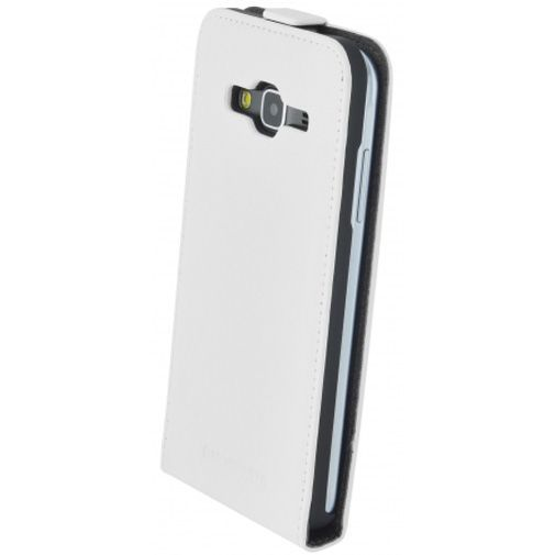 Productafbeelding van de Mobiparts Premium Flip Case White Samsung Galaxy J3 (2016)
