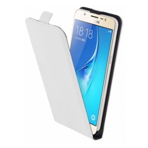 Productafbeelding van de Mobiparts Premium Flip Case White Samsung Galaxy J5 (2016)