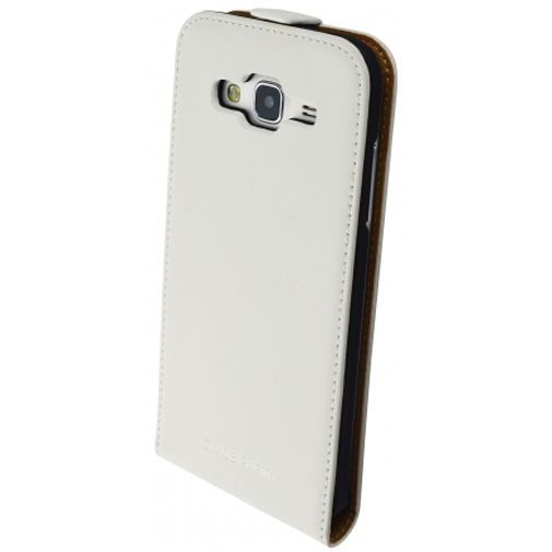 Productafbeelding van de Mobiparts Premium Flip Case White Samsung Galaxy J5