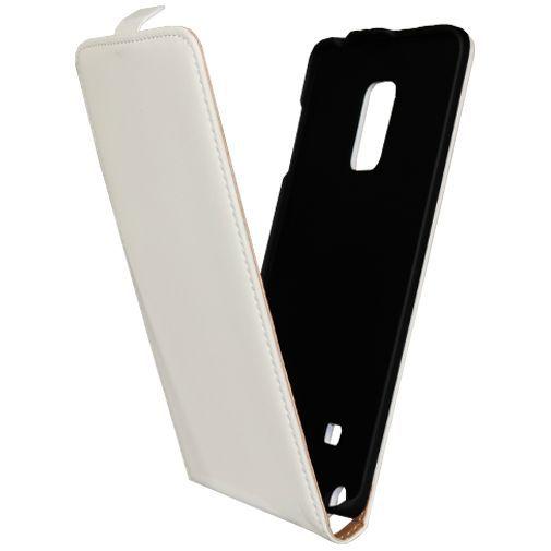 Productafbeelding van de Mobiparts Premium Flip Case White Samsung Galaxy Note Edge
