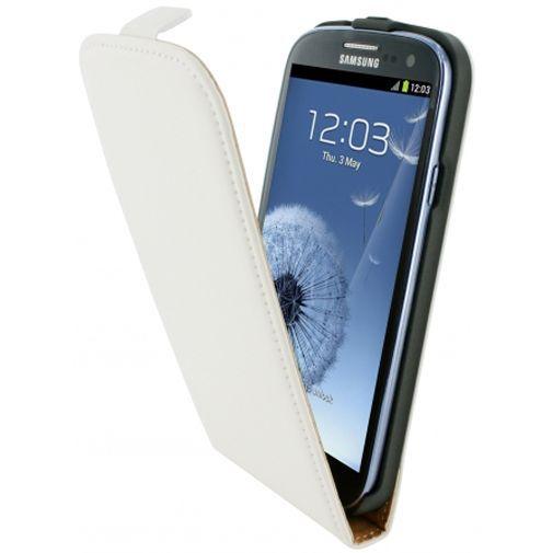 Productafbeelding van de Mobiparts Premium Flip Case White Samsung Galaxy S3 (Neo)