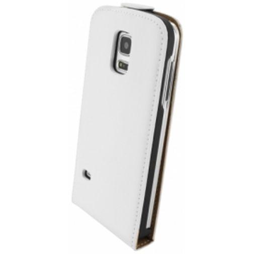 Productafbeelding van de Mobiparts Premium Flip Case White Samsung Galaxy S5 Mini