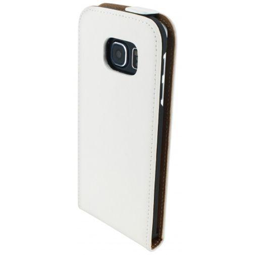 Productafbeelding van de Mobiparts Premium Flip Case White Samsung Galaxy S6 Edge