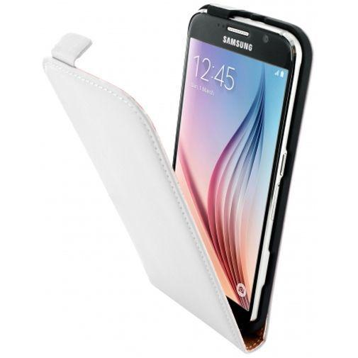 Productafbeelding van de Mobiparts Premium Flip Case White Samsung Galaxy S6