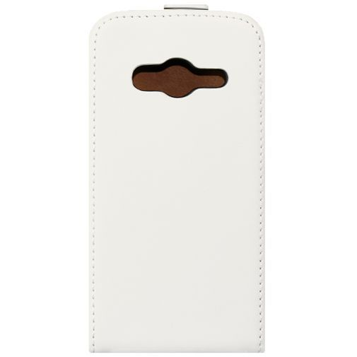 Productafbeelding van de Mobiparts Premium Flip Case White Samsung Galaxy Trend 2