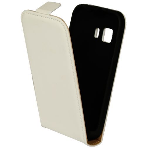 Productafbeelding van de Mobiparts Premium Flip Case White Samsung Galaxy Young 2