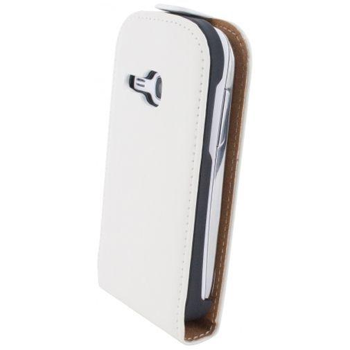 Productafbeelding van de Mobiparts Premium Flip Case White Samsung Galaxy Young S6310