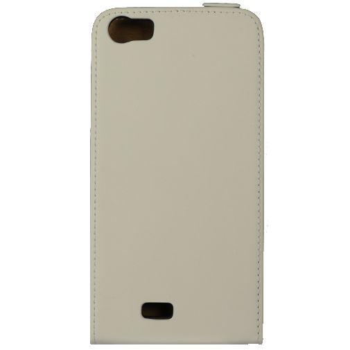 Productafbeelding van de Mobiparts Premium Flip Case White Wiko Lenny
