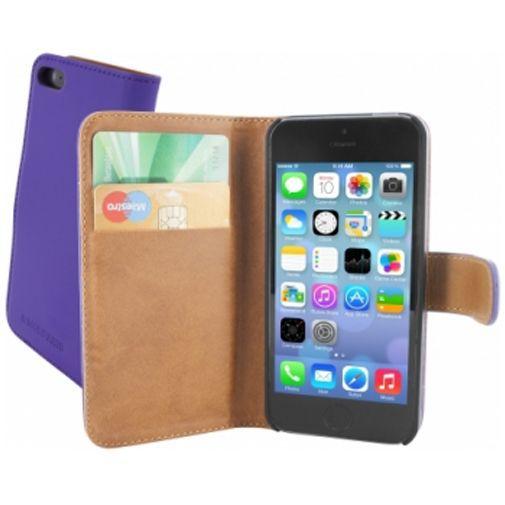 Productafbeelding van de Mobiparts Premium Wallet Case Apple iPhone 5/5S Purple