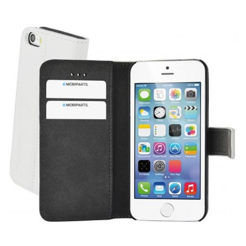 Productafbeelding van de Mobiparts Premium Wallet Case Apple iPhone 5/5S/SE White