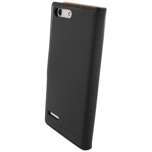 Productafbeelding van de Mobiparts Premium Wallet Case Black Huawei Ascend G6 4G