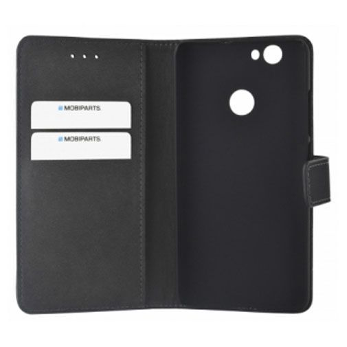 Productafbeelding van de Mobiparts Premium Wallet Case Black Huawei Nova
