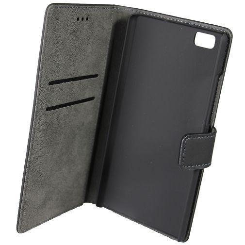 Productafbeelding van de Mobiparts Premium Wallet Case Black Huawei P8 Lite