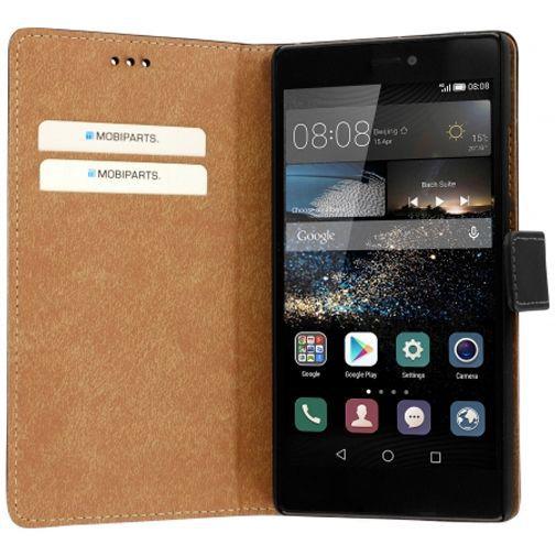 Productafbeelding van de Mobiparts Premium Wallet Case Black Huawei P8
