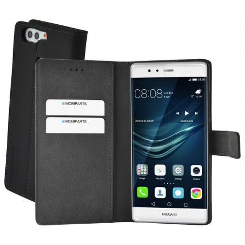 Productafbeelding van de Mobiparts Premium Wallet Case Black Huawei P9