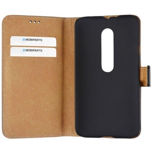 Productafbeelding van de Mobiparts Premium Wallet Case Black Motorola Moto G (3rd Gen)