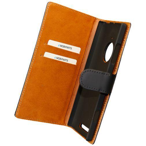 Productafbeelding van de Mobiparts Premium Wallet Case Black Nokia Lumia 830