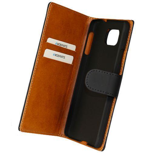 Productafbeelding van de Mobiparts Premium Wallet Case Black Samsung Galaxy Alpha
