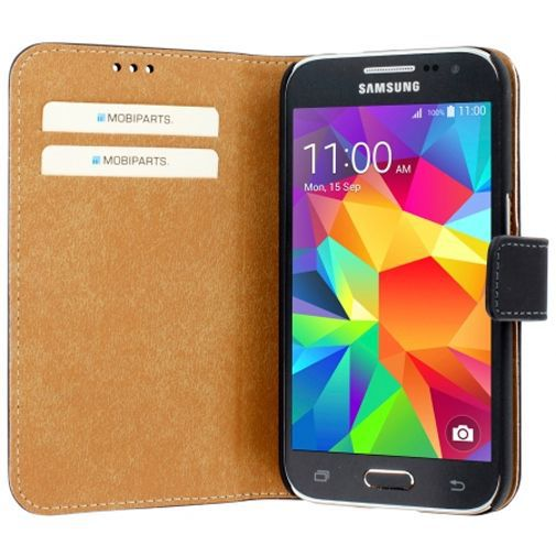 Productafbeelding van de Mobiparts Premium Wallet Case Black Samsung Galaxy Core Prime (VE)