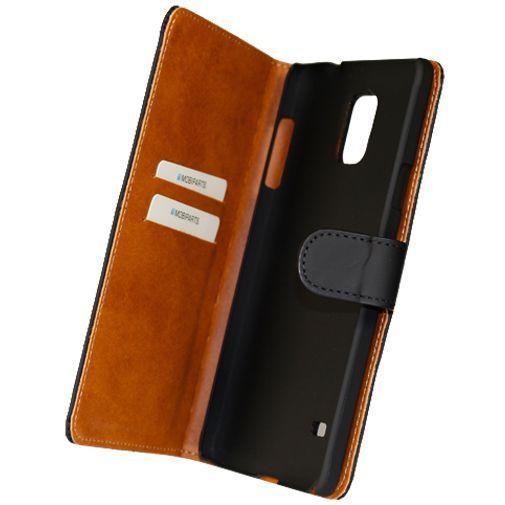 Productafbeelding van de Mobiparts Premium Wallet Case Black Samsung Galaxy Note 4