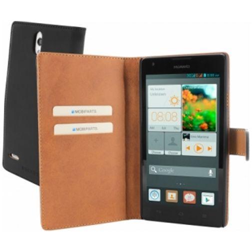 Productafbeelding van de Mobiparts Premium Wallet Case Huawei Ascend G700 Black