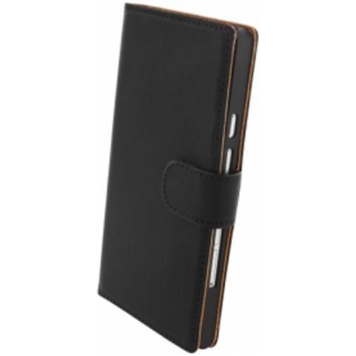 Productafbeelding van de Mobiparts Premium Wallet Case Huawei Ascend P6 Black