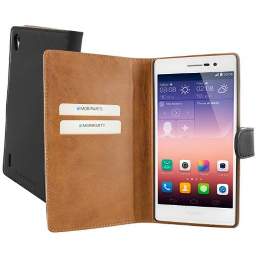 Productafbeelding van de Mobiparts Premium Wallet Case Huawei Ascend P7 Black