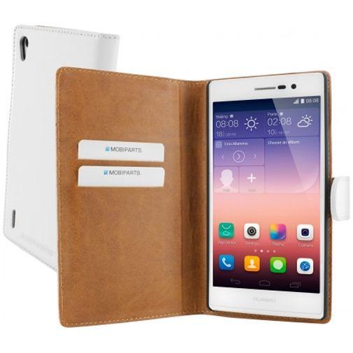 Productafbeelding van de Mobiparts Premium Wallet Case Huawei Ascend P7 White