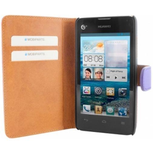 Productafbeelding van de Mobiparts Premium Wallet Case Huawei Ascend Y300 Purple