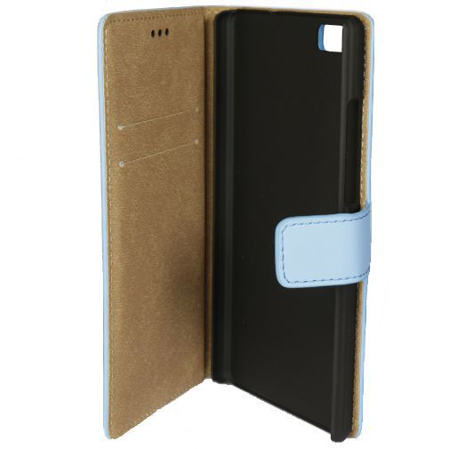 Mobiparts Premium Wallet Case Light Blue Huawei P8 Lite