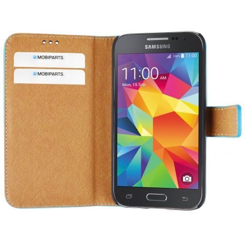 Productafbeelding van de Mobiparts Premium Wallet Case Light Blue Samsung Galaxy Core Prime (VE)