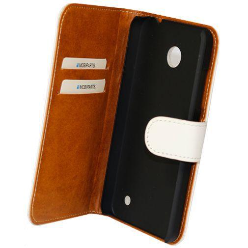 Productafbeelding van de Mobiparts Premium Wallet Case Nokia Lumia 630 / 635 White