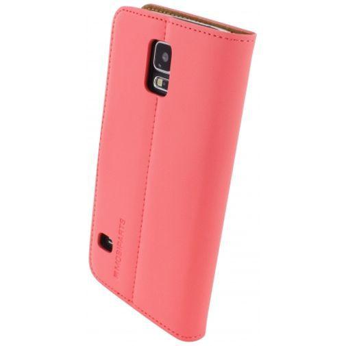 Productafbeelding van de Mobiparts Premium Wallet Case Peach Pink Samsung Galaxy S5/S5 Plus/S5 Neo