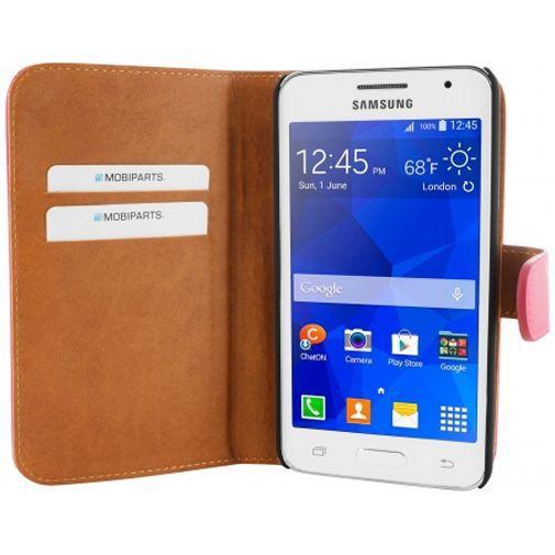 Mobiparts Premium Wallet Case Pink Samsung Galaxy Core 2