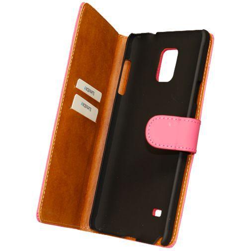 Productafbeelding van de Mobiparts Premium Wallet Case Pink Samsung Galaxy Note 4