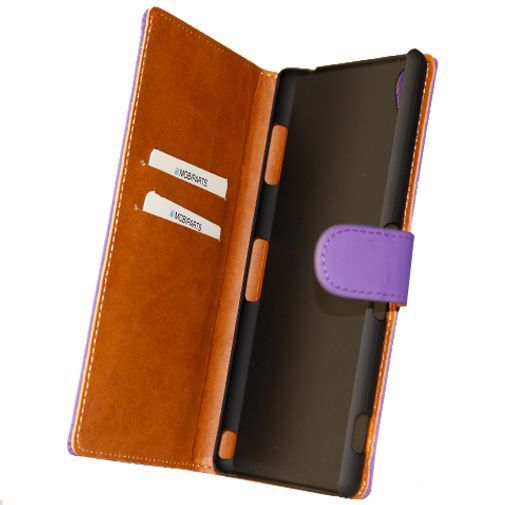 Mobiparts Premium Wallet Case Purple Sony Xperia Z3