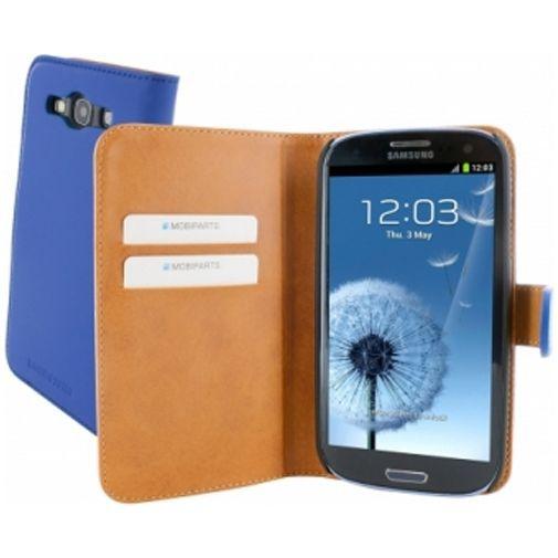 Productafbeelding van de Mobiparts Premium Wallet Case Samsung Galaxy S3 (Neo) Blue