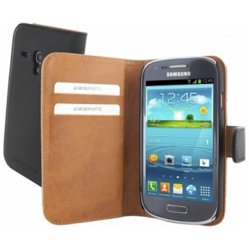 Productafbeelding van de Mobiparts Premium Wallet Case Samsung Galaxy S3 Mini (VE) Black