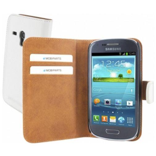 Productafbeelding van de Mobiparts Premium Wallet Case Samsung Galaxy S3 Mini (VE) White