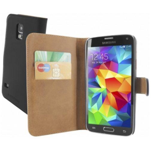 Productafbeelding van de Mobiparts Premium Wallet Case Black Samsung Galaxy S5/S5 Plus/S5 Neo