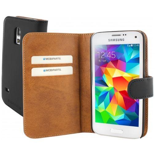 Productafbeelding van de Mobiparts Premium Wallet Case Samsung Galaxy S5 Mini Black