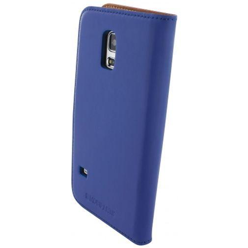 Productafbeelding van de Mobiparts Premium Wallet Case Samsung Galaxy S5 Mini Blue