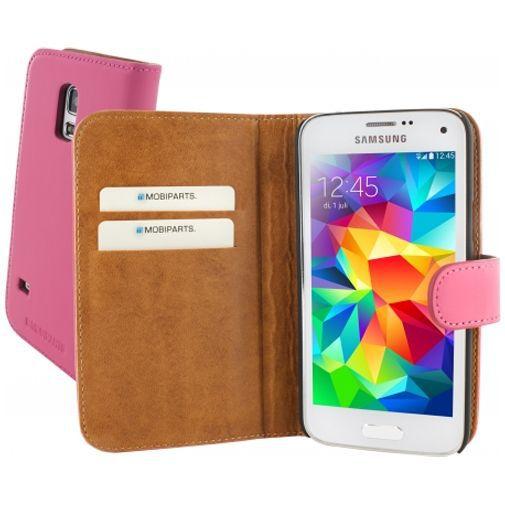 Productafbeelding van de Mobiparts Premium Wallet Case Samsung Galaxy S5 Mini Pink