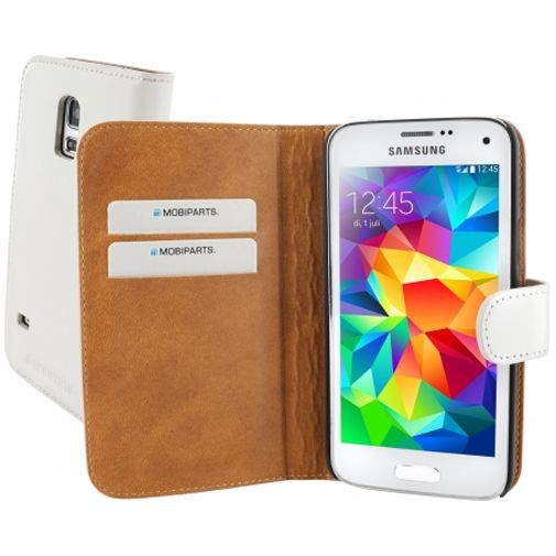Productafbeelding van de Mobiparts Premium Wallet Case Samsung Galaxy S5 Mini White