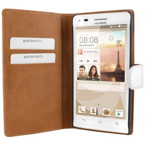 Productafbeelding van de Mobiparts Premium Wallet Case White Huawei Ascend G6