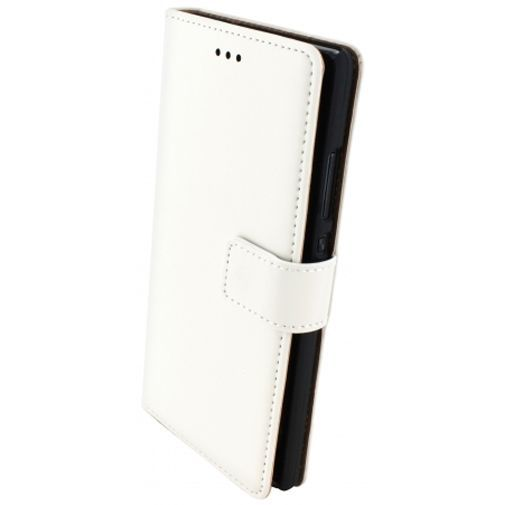 Productafbeelding van de Mobiparts Premium Wallet Case White Huawei P8