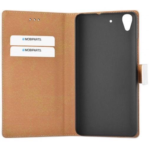 Productafbeelding van de Mobiparts Premium Wallet Case White Huawei Y6